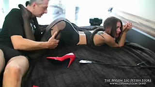 Gorgeous Wife Spanked and Groped in Layered Nylon