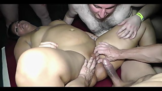 LAZ ALI - AMATEUR CUCKOLD WIFE FIRST TIME GANGBANG CRYING