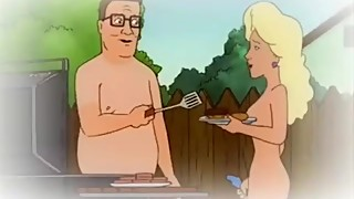 Hank Cheats on his wife outside