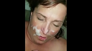 Snoring wife gets a facial - WhileShesAsleep