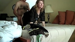 Horny mature wife cheating on husband with her boss on business trip