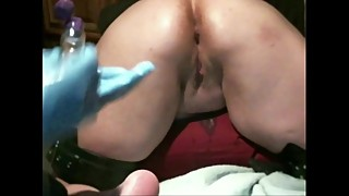 Homemade wife fisted until she squirts