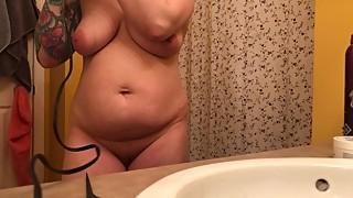 REAL spycam, My dad's wife is half his age - pissing and showering