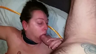 Whore wife tied up fucked and facial cumshot