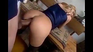Cheating wife likes anal sex with her boss with monster cock