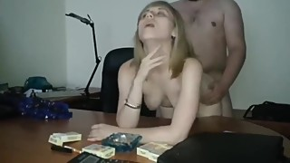 husband watch like his boss fuck his wife at work