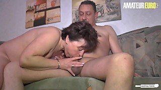 AmateurEuro - Busty German WIFE Fucked On The Couch By Her Lover