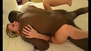 Husband films his naughty wife gets hot creampie from their black neighbor