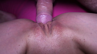 Fucking my wife beautiful pussy buttplug in her ass
