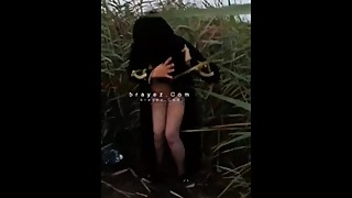 brayez.com - Hot Muslim niqab wife cheating on her husband in public