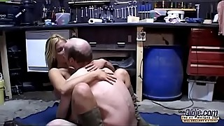 Ugly freak with glasses fucks blonde great-butt neighbour'_s wife (2)