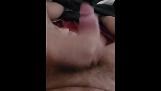 Wife helps me jerk off