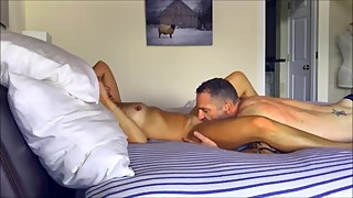 Amateur tanned wife passionate sex
