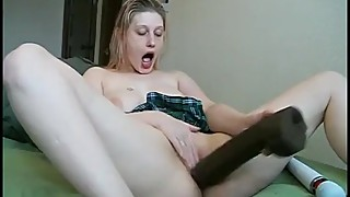 Amateur Wife Solo with Bam Dildo Enjoying Spreading Her Pussy with Toys