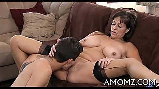 Slutty mature is avid about cock