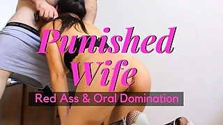Oral Domination, Rough Sex, and Leather Strap Spanking for Colombian Wife