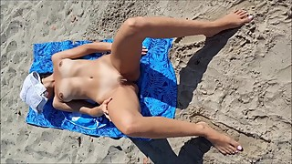 Real amateur wife voyeur public beach naked