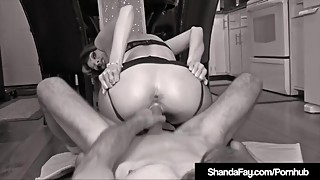 Horny Wife Shanda Fay Rides Cock Reverse CowGirl In Nylons!