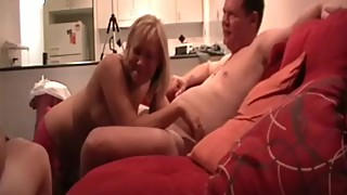 Real Aussie amateur swingers party in Hotel. Wife sucks 3 dicks at once