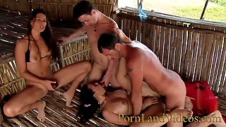 slut wifes hot group fuck anal orgy at the beach double penetration