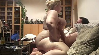 Naughty BBW wife rides her ex husband's big cock like a master