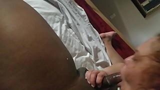 His wife gives the wettiest blowjobs
