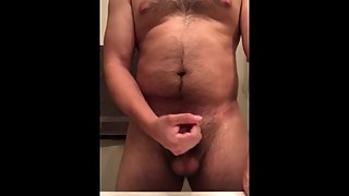 Quick jerk while wife is in living room