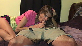 Skinny wife sucking and riding