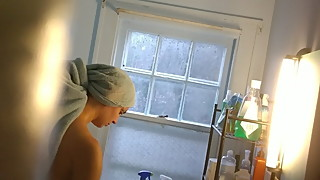 Wife getting out of shower
