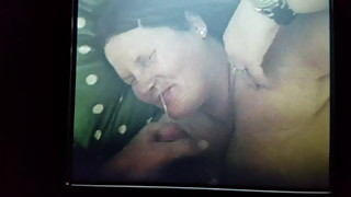 Bbw wife gets face blasted