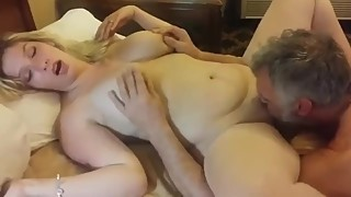 Cheating wife having a real orgasm with her ex husband