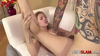 Desperate Young Slutwife Spreads Pussy For Her Ex-Boyfriend