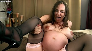 Your Wife's Orgasmic Labor with Triplets! - Pregnant Kristi Faux Labor POV