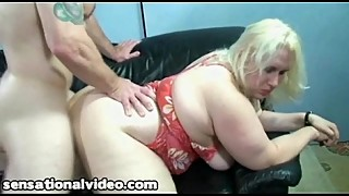 Ugly BBW Wife Fucks Stranger While Hubby Is Away