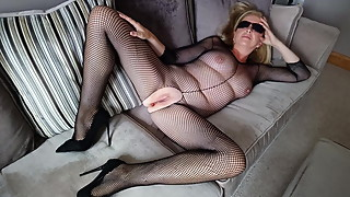 Debbie's fishnet bodysuit