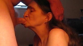 love to suck my husbands cock can feel him back of my throat