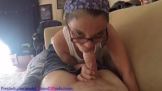 Neighbors cheating Russian wife loves to swallow my cum