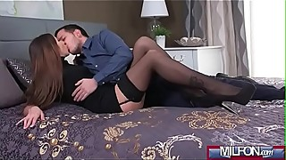 Seductive French milf gets creampie(Clea Gaultier) 01 video-15