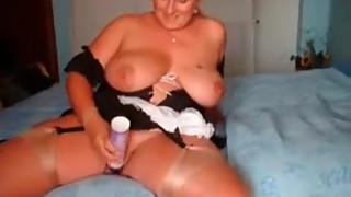 Check my MILF Busty mature wife posing outdoors and at home