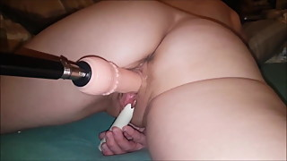 wifes first time fuckingmachine machine milf mother doggy