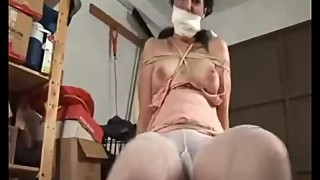 latina wife tied down and gagged with panties