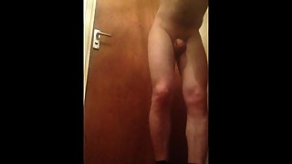 Masturbating and sniffing my wifes dirty panties knickers